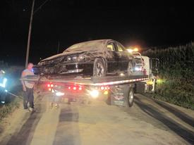 Blanks Towing removes the Impala from the scene