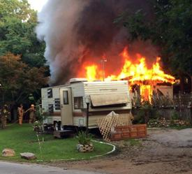 West Caln Township Mobile Home Fire (Image Courtesy of Wagontown Fire Company)