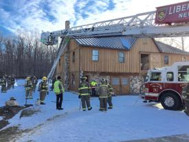 Paes Road Barn Fire. (Photo Courtesy of Garden Spot Fire-Rescue)