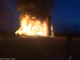 West Sadsbury Barn Fire (Photo Courtesy of Keystone Valley FD.)