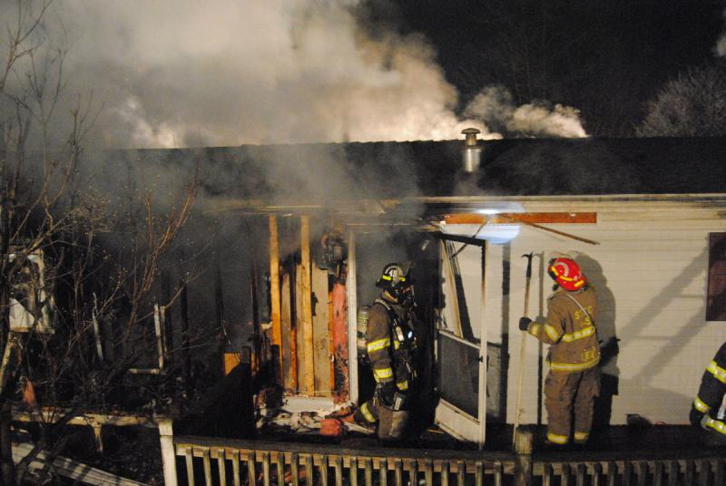 Station 49 Firefighters Operating To The Rear Of Home Chris Kennedy Photo