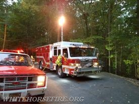 Engine 49-2 at the West Brandywine Township brush fire