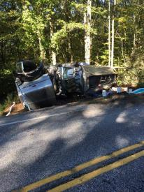 Springville Road fuel truck accident (Image courtesy of Garden Spot Fire Rescue)