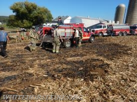Mount Zion Road cornfield fire...10/15/16