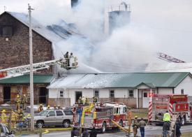 Union Grove Barn Fire. (Photo by Blaine Shanahan/LNP)