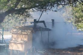 Ash Road Outbuilding Fire (a chicken coop). (Photo Courtesy of IrishEyez Emergency Services Photography)