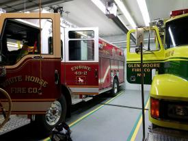 Engine 49-2 with Rescue 48 at the Glen Moore standby (Photo Courtesy of Glen Moore EMS Captain Crawford)