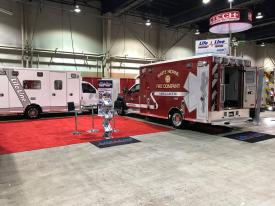 Ambulance 49-1 on display with 2 new demonstrator units (Image Courtesy of Pfund Superior Sales)