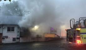 Lincoln Highway Commercial Building Fire (Photo Courtesy of Chris Kennedy)