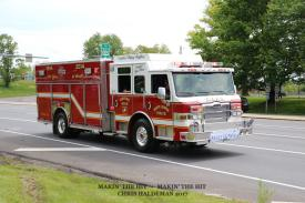 Engine 49-2 in the convoy at Routes 272/222/772. (Photo Courtesy Of Chris Haldeman/ Makin' The Hit)