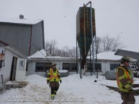 A barn collapse on Wanner Road
