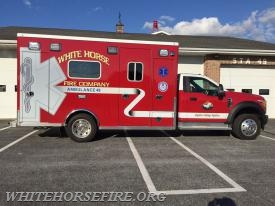 The new 2017 ambulance is now in service! (photo from Pfund Superior Sales Facebook page)